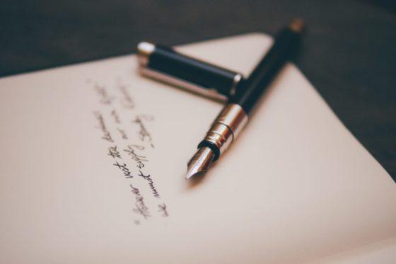 Pen and paper invitation