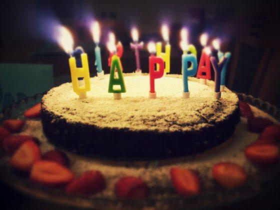 Birthday cake goal setting.