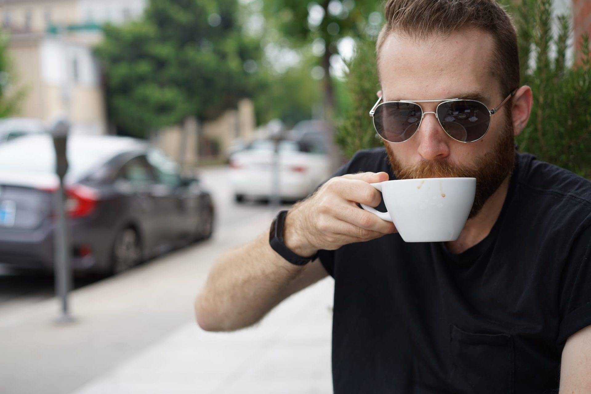 guy sipping coffee LA