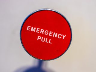 Emergency button.
